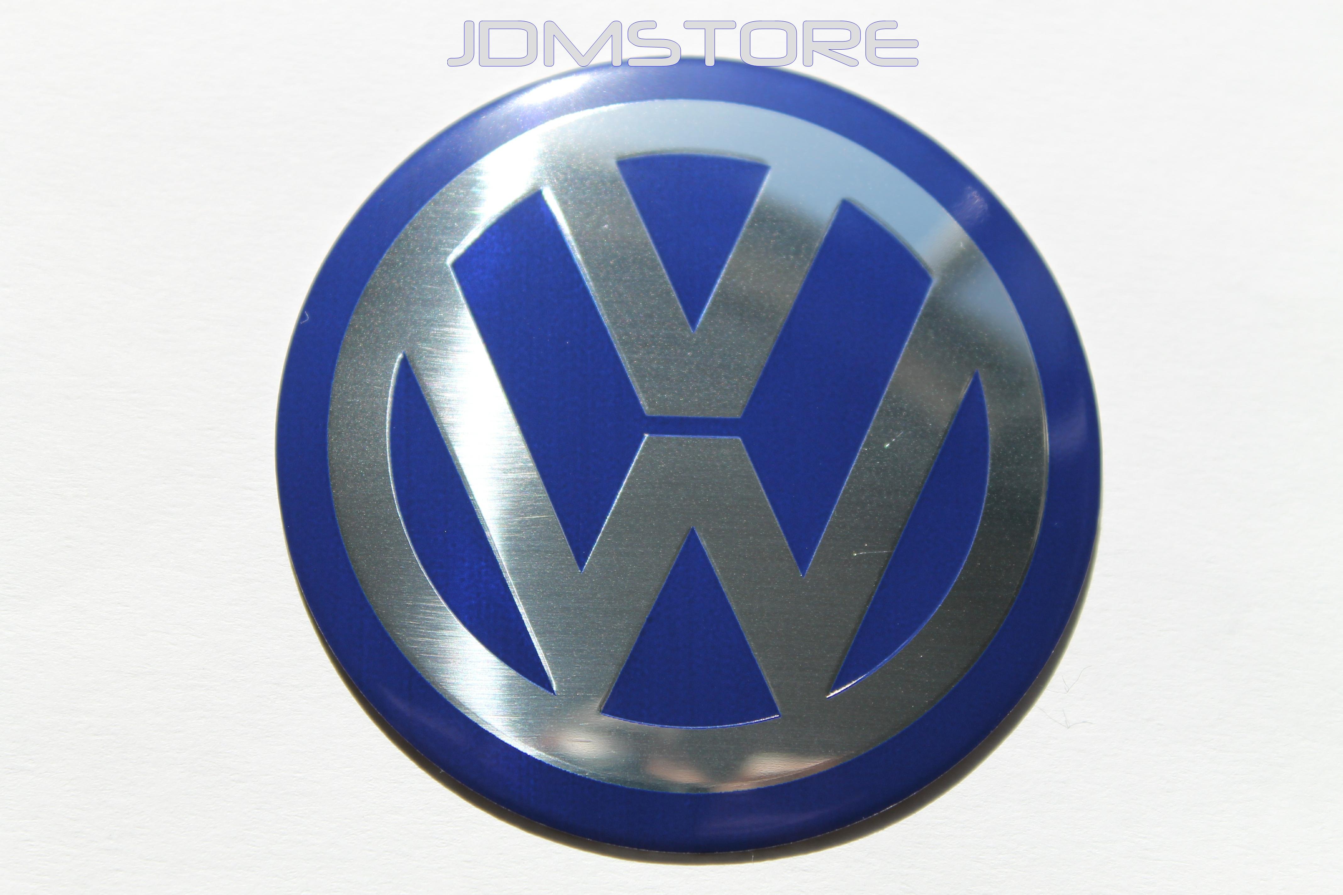 70mm vw blue chrome wheel center cap sticker badges emblem 4pcs fit volkswagen ebay. Black Bedroom Furniture Sets. Home Design Ideas